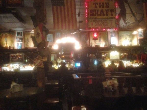 The long bar at Big Nose Kate's Saloon