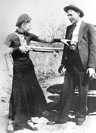 The real Bonnie and Clyde