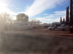RV Park right next to the old part of Tombstone