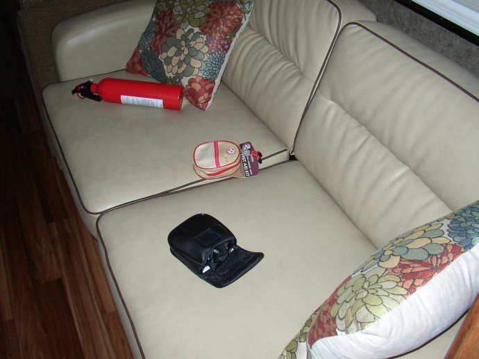 Items dumped on couch